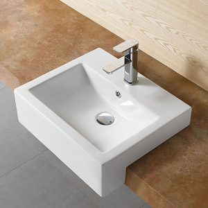Semi Recess Basin